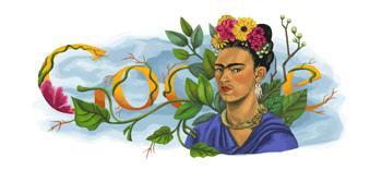 Frida Kahlo homenaxeada por un día en Google